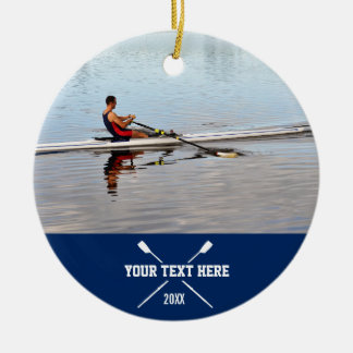 Personalized Crew Rowing Club Team Name Year Ceramic Ornament