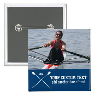 Personalized Crew Rowing Club Team Name Year Pinback Button