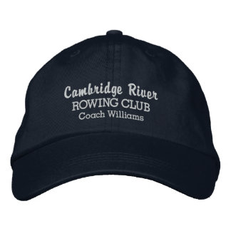 Personalized Crew Rowing Club Team & Rower Name Embroidered Baseball Hat