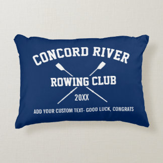 Personalized Crew Rowing Logo Oars Team Name Year Accent Pillow