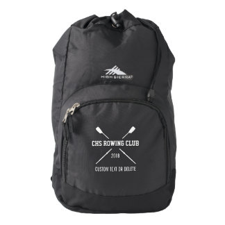 Personalized Crew Rowing Logo Oars Team Name Year Backpack