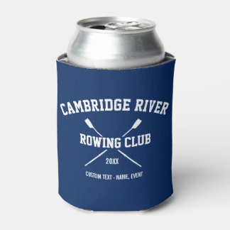 Personalized Crew Rowing Logo Oars Team Name Year Can Cooler