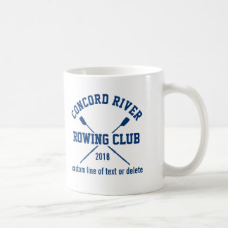 Personalized Crew Rowing Logo Oars Team Name Year Coffee Mug