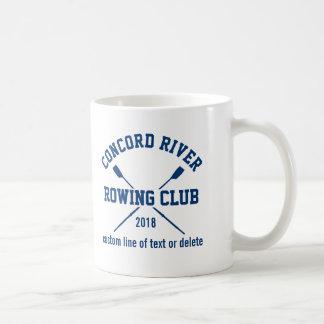 Personalized Crew Rowing Logo Oars Team Name Year Coffee Mug