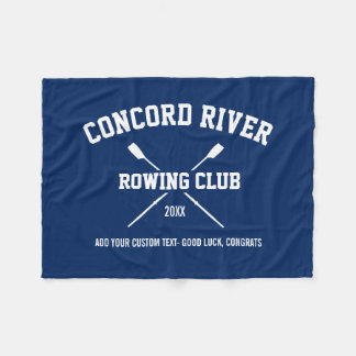 Personalized Crew Rowing Logo Oars Team Name Year Fleece Blanket
