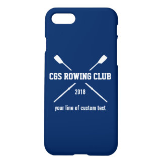 Personalized Crew Rowing Logo Oars Team Name Year iPhone 7 Case