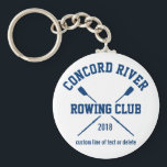 "Personalized Crew Rowing Logo Oars Team Name Year Keychain<br><div class=""desc"">Personalized Crew Rowing keychain featuring crossed oars and your custom text. Add your club name, year, custom text (coach&#39;s name, rower&#39;s name, event, etc.) Makes a thoughtful end of season keepsake, coach&#39;s gift or team fundraiser. Check out our other custom crew gifts by clicking on the Colorfulgalshop logo below &gt;...</div>"