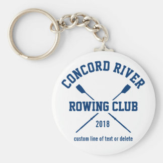 Personalized Crew Rowing Logo Oars Team Name Year Keychain