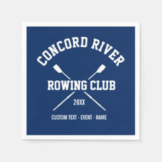 Personalized Crew Rowing Logo Oars Team Name Year Napkin