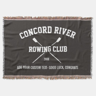 Personalized Crew Rowing Logo Oars Team Name Year Throw