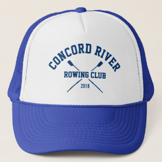 Personalized Crew Rowing Logo Oars Team Name Year Trucker Hat