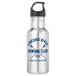 Personalized Crew Rowing Logo Oars Team Name Year Water Bottle