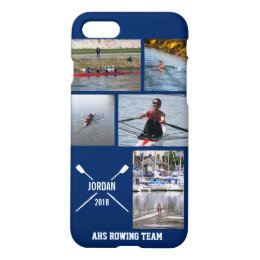 Personalized Crew Rowing Oars Photo Collage iPhone 8/7 Case