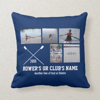 Personalized Crew Rowing Rower Club Name Year Throw Pillow