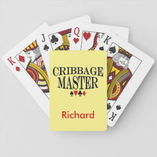 Personalized Cribbage Master Playing Cards