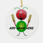 Personalized Cricket Star Christmas Tree Ornaments