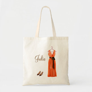 Personalized Crimson Bridesmaid Tote Budget Tote Bag
