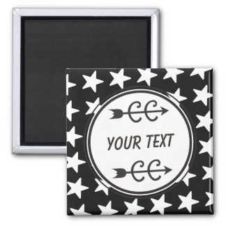 Personalized Cross Country Black White Magnet