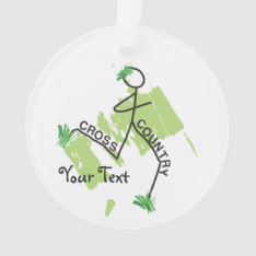 Personalized Cross Country Funny © Grass Runner Ornament at Zazzle