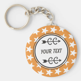 Personalized Cross Country ORANGE Keychain