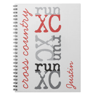 Personalized Cross Country run XC Spiral Notebook