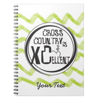Personalized Cross Country Running is XCellent Spiral Notebook