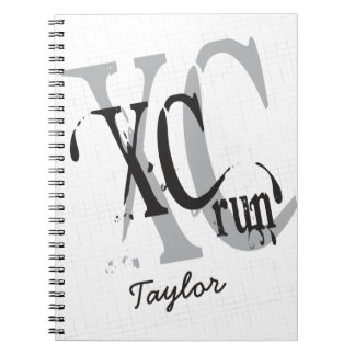 Personalized Cross Country Running XC Spiral Notebook