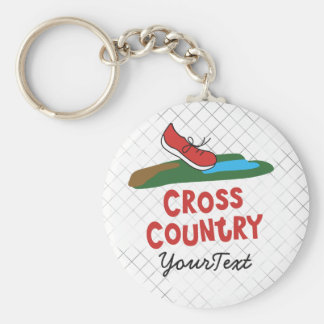 Personalized Cross Country - XC Running Shoe Keychain