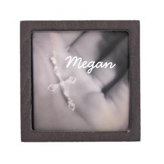 Personalized Cross in Hand Design Box Premium Jewelry Boxes