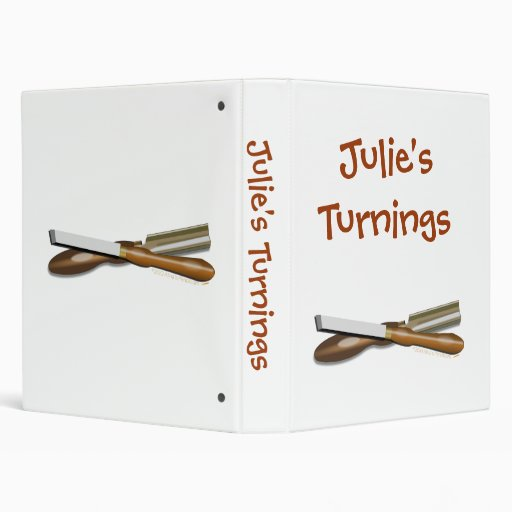 Personalized Crossed Woodturning Tools Template Vinyl Binders