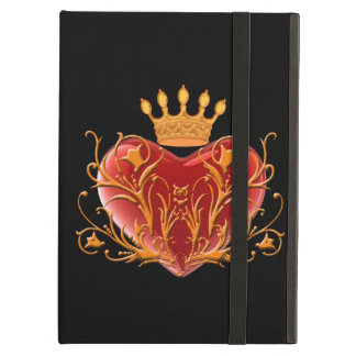 Personalized Crown Filigree Heart iPad Case