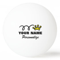 Personalized crown ping pong ball for table tennis