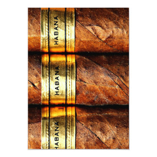 Personalized Cuban Cigars Habana Invitation