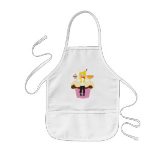 Personalized cup cake maker baker pink kids' apron