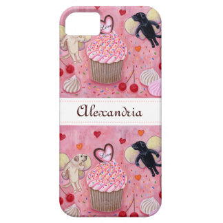 Personalized Cupcake and Labrador Fairies iPhone 5 Cover