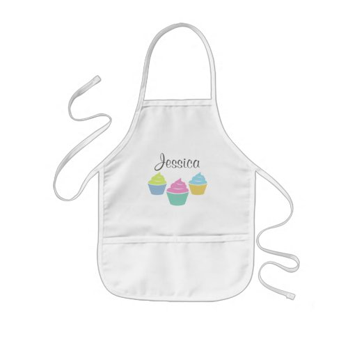 Personalized cupcake baking apron for children