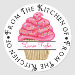 Personalized Cupcake Baking  Kitchen Stickers