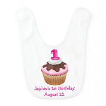 Personalized Cupcake Birthday Bib
