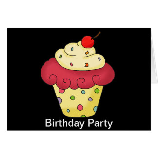 Personalized Cupcake birthday party invitations Stationery Note Card