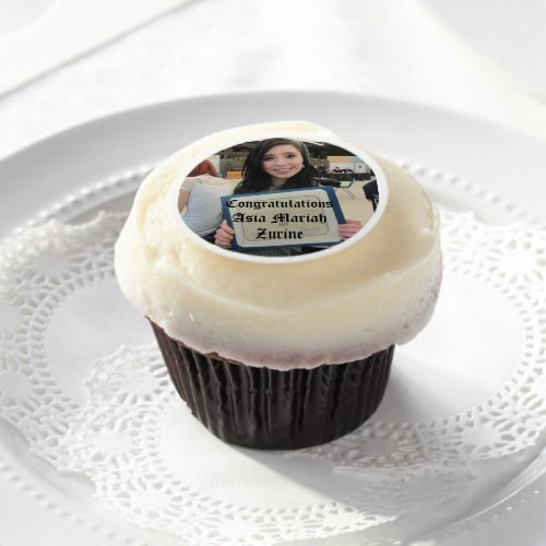 Personalized cupcake topper sheets