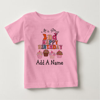 Personalized Cupcakes 2nd Birthday Tshirt