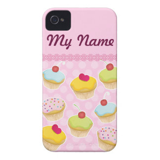 Personalized Cupcakes Case-Mate iPhone 4 Case