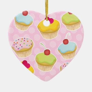 Personalized Cupcakes Ceramic Ornament