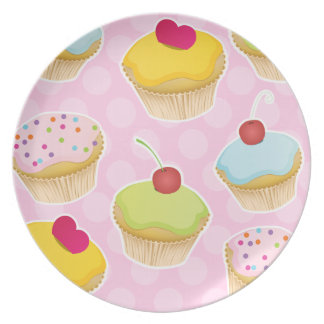 Personalized Cupcakes Dinner Plate