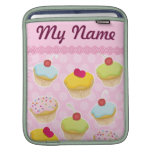 Personalized Cupcakes iPad Sleeve