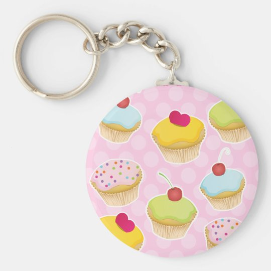 Personalized Cupcakes Keychain