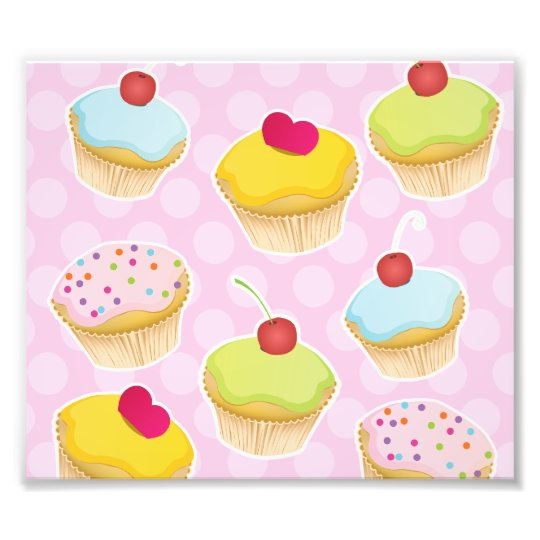 Personalized Cupcakes Photo Print