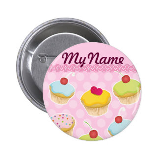 Personalized Cupcakes Pinback Button