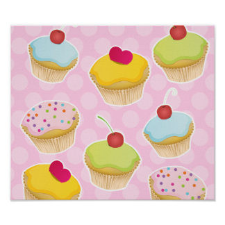 Personalized Cupcakes Poster