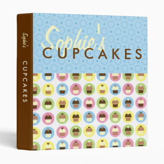 Personalized Cupcakes Recipie Binder